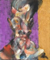 Portrait of Egon Schiele on Purple and Gold by RyckRudd