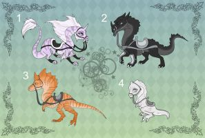 [Closed] Adoptables: Dragon Mounts by MySweetQueen