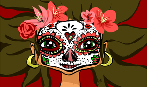 Day Of The Dead Girl by Zakeena