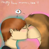 Happy two months,love by Kia-Bird
