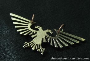 Bronze Imperial Eagle pendant by Sulislaw