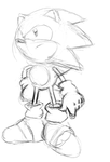 Sonic Sketch by A-Scream