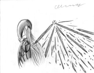 Obsidian Angel Doodle/Sketch by The1King