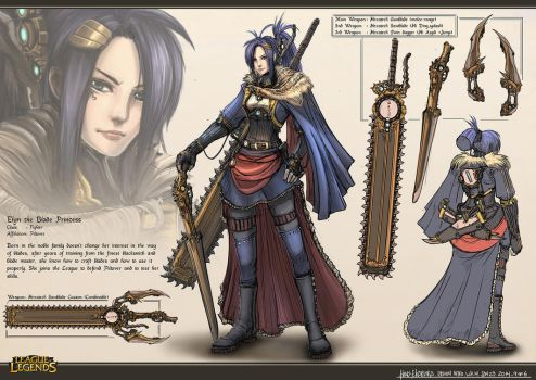 Champion Design - Elyn the Blade Princess by Hirooyuuki