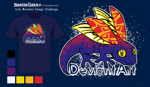 BeetleGekko Shirt Design - Cute Monsters Contest by sunhawk