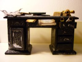 Desk for dusty witches attic by SoDarkSoCute