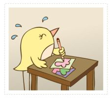 Workaholic Birdie by arwenita