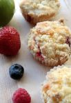 Fruity Crumble Cupcakes by claremanson