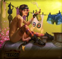 TankGirl: Laundry Day by brainleakage