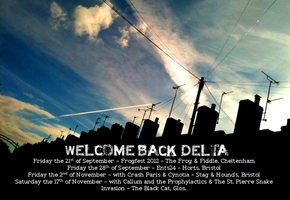 Welcome Back Delta - Upcoming Gigs Poster by TheMajikelOne