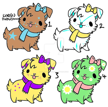 5 point Dog Adoptables (4/4 OPEN) by Fuffly-Panda
