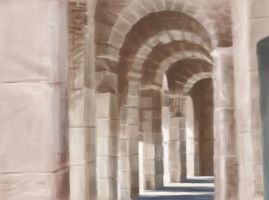 Stone Arches - Study by robotbreath