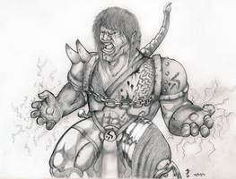 Sketch - Barbarian of Thunder by ErigadGreatwood