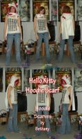 Hello Kitty Hoodie Scarf by RougeLeaderRed