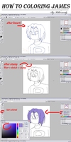 How to coloring James_tutorial by KillerSandy