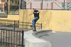 The Skateboarder, Trick On the Curve 2 by Miss-Tbones