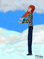 For Mrowka: Red in snow by Rayder3d