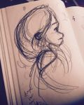 Hair sketch 001 by MemorySoul