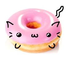 pink donut cat :33 by shanagiku