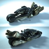 FF7 motorcycle by KeNjIiAnImEkInG