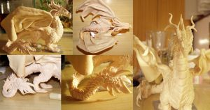 Sculpey dragon 2 close ups by ravenoo