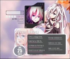 Rainmeter: Vocaloid IA by milkkybunny