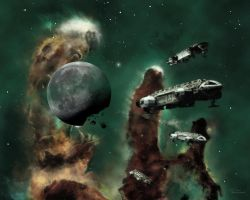 Eagles in the Eagle Nebula (primary version) by Topaz172
