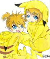 Len and Rin, Vocaloid by MarcelaUrena