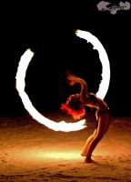 Fire Poi Backbend by Burnouthappy