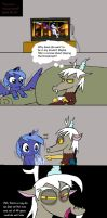 Filly luna vs teenage Discord by Helsaabi