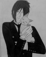 Sebastian and cat *u* by LisaEide