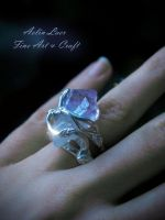 Mir-norn Tauruin elvish silver ring by Gwillieth