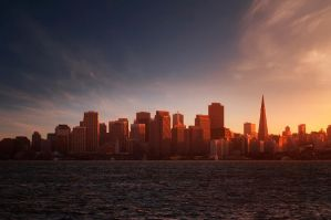 evening in  San Francisco by VaggelisFragiadakis