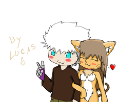 Anti-Matter and Kat :3 by Luycaslima