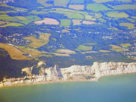 The White Cliffs of Dover (aerial view) by BrightStar2