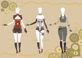 Adoptables- outfit set 20 CLOSED by HardyDytonia
