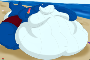 Beach Whale And His Popsicle by Big-Wolf