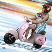 Scooter girl with a dog by claudiocerri