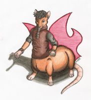 Rustel the Rat-Taur by BrownFox