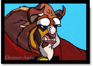 Beast Animation Cel by Eleanor-Anne6