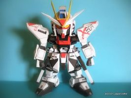 SD Strike Freedom Gundam Papercraft by aeron21