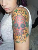 sugar skull by thetattooedgirl