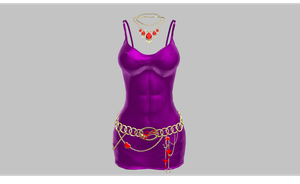MMD Tight purple dress by amiamy111