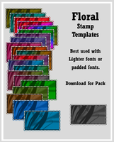 Floral Templates by AssClownFish