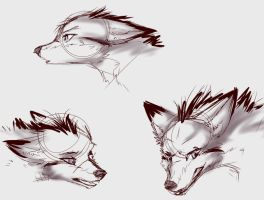 Wolf Rekion expressions by howlingvoice