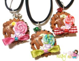 Christmas Cookie pendants by colourful-blossom