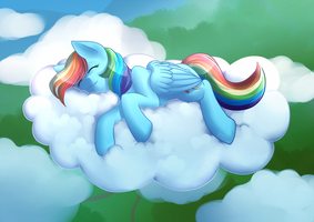 Sleepy Dashie by SugaryViolet
