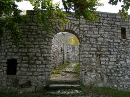 Archway in a castle wall 10220094 by Netzlemming