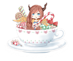 [C] Teacup Chibi Sammifroot by Cottoneeh