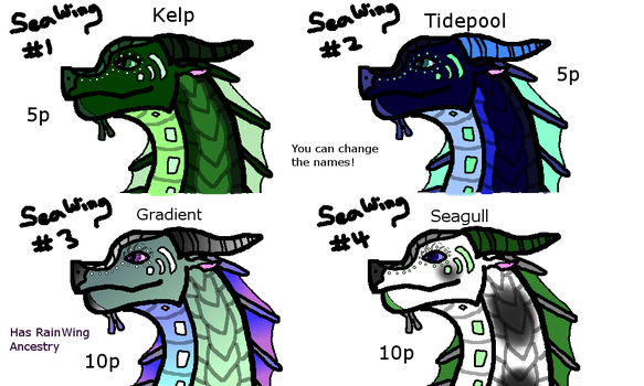 SeaWing Adopts (0/4 Left) [CLOSED] by VoidLegend
